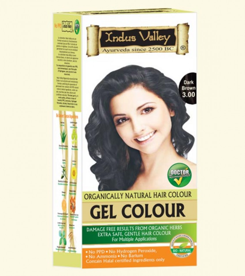 Gel Hair Colour Dark Brown 3.0