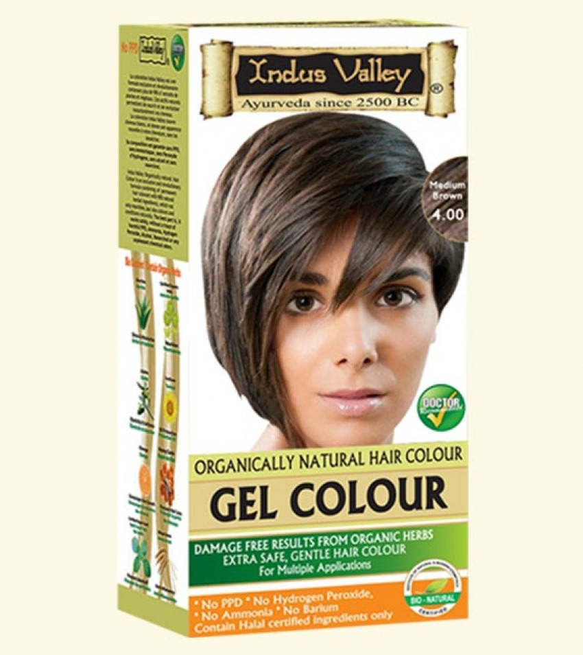 Gel Hair Colour Medium Brown 4.0